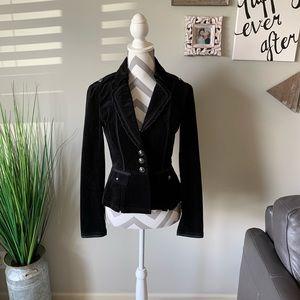 White House Black Market Velvet Button Jacket